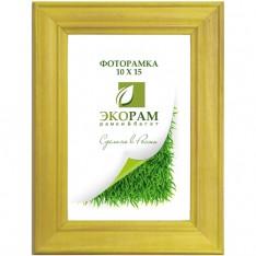 Рамка 10х15  натуральное дерево воск желтая профиль №700