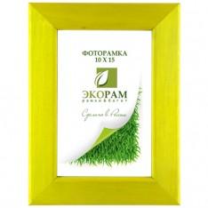 Рамка 10х15  натуральное дерево воск желтая профиль № 600